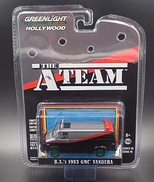 BARACUS A-TEAM Modelo DieCast Furgoneta GMC VANDURA 1983 de B.A Escala 1//64 ORIGINAL Greenlight