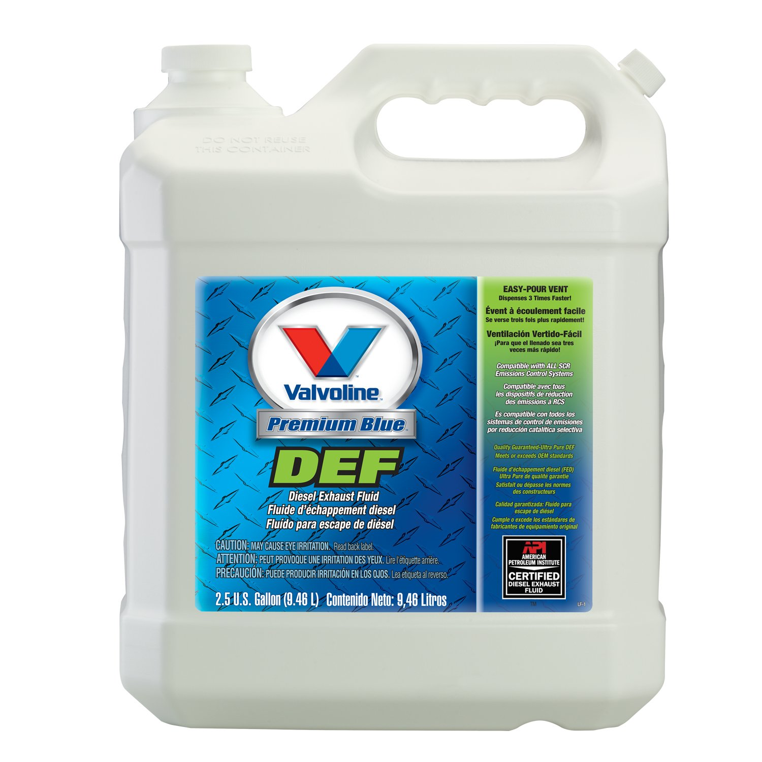 Diesel Exhaust Fluid >> Amazon Com Valvoline Premium Blue Diesel Exhaust Fluid 2 5gal