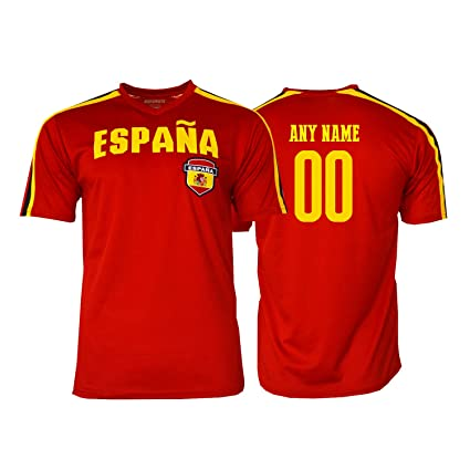 cc2caf93876b Pana Spain Soccer Jersey Flag España Adult Training World Cup Custom Name  and Number (Custom