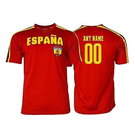 2b01dd23b21 Pana Spain Soccer Jersey Flag España Youth Kids Training World Cup Custom  Name and Number (