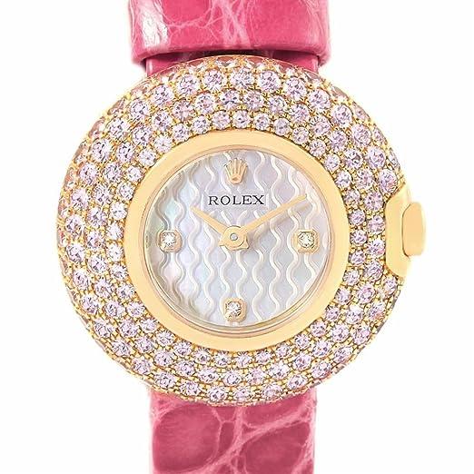 Rolex Cellini 6201 - Reloj de cuarzo para mujer (certificado de autenticidad)