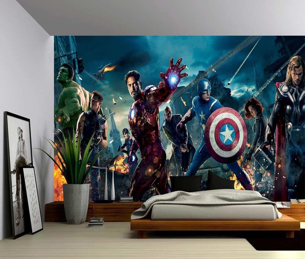 Avengers Super Hero Wall Art Wall Mural Any Size Self Adhesive Vinyl Decal 1
