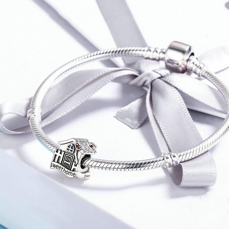 EverReena Beads Sweet Home Loft Villa Charms for Silver Bracelets