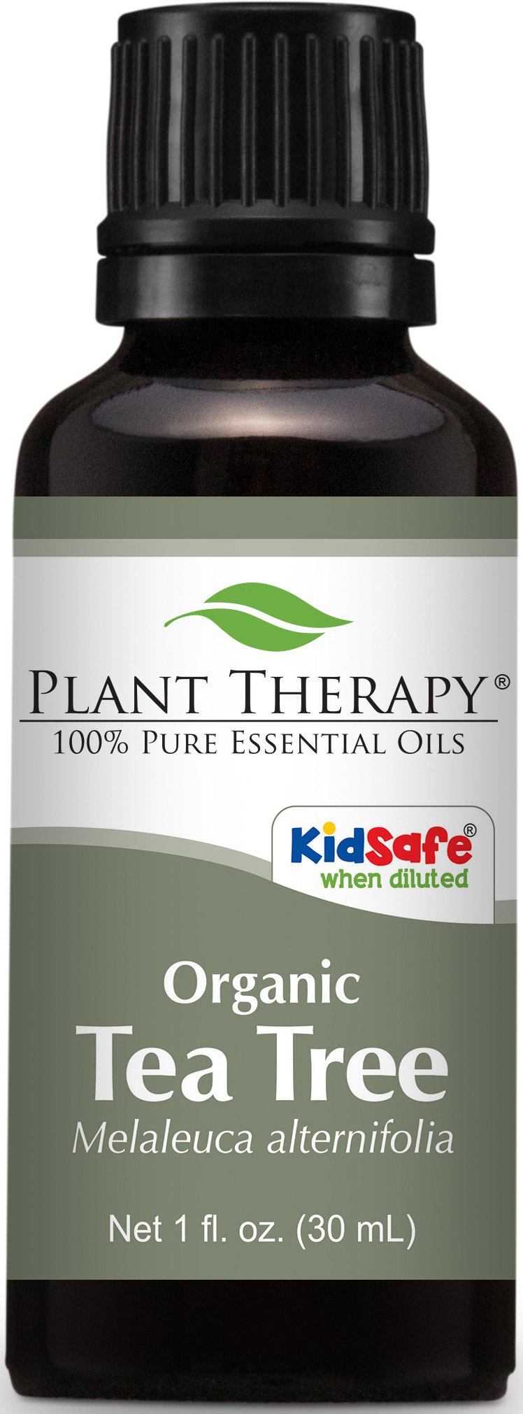 Plant Therapy USDA Certified Organic Tea Tree (Melaleuca) Essential Oil. 100% Pure, Undiluted, Therapeutic Grade. 30 ml (1 oz).