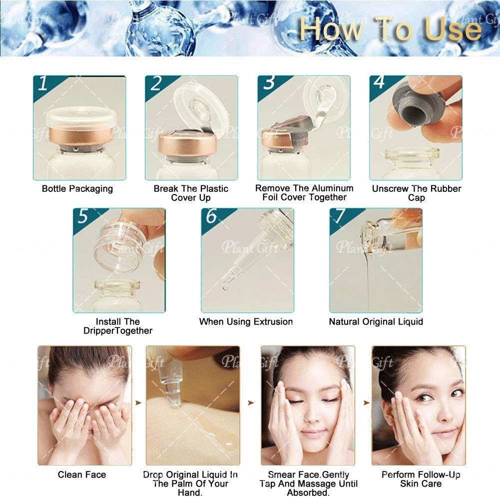 Plant Gift - Fluido original de Péptidos de cobre azul-Restaurar la piel blanqueadora, reproducir la piel delicada, sedosa, brillo natural.- 10ML * ...