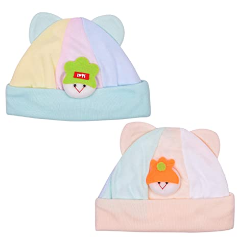 388c8cd15ae Newborn Baby s Cotton Caps (Multicolour