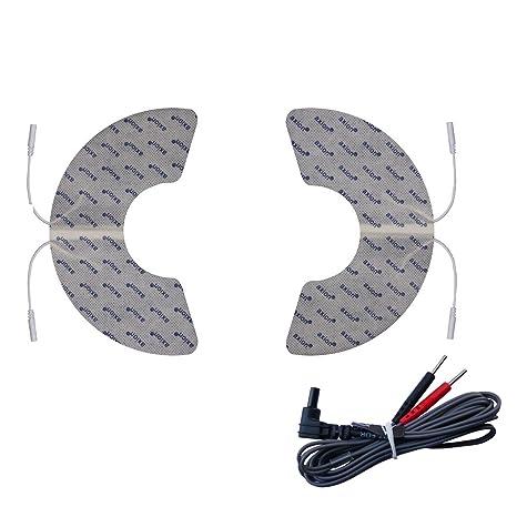 Electrodos rodilla compatibles con VITALCONTROL - 2 parches en forma de media luna - para electroestimuladores