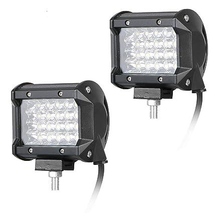 1b2c4974ecdc EEEKit 2-Pack 4 inch 120W LED Light Bar - 6000K Cool White, Waterproof LED  Pods Spotlight Fog Driving Lighting Lamp for Off Road Truck Car ATV SUV ...