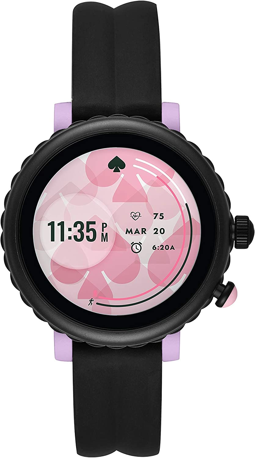 Kate Spade New York Womens Sport Touchscreen Aluminum and Silicone Smartwatch