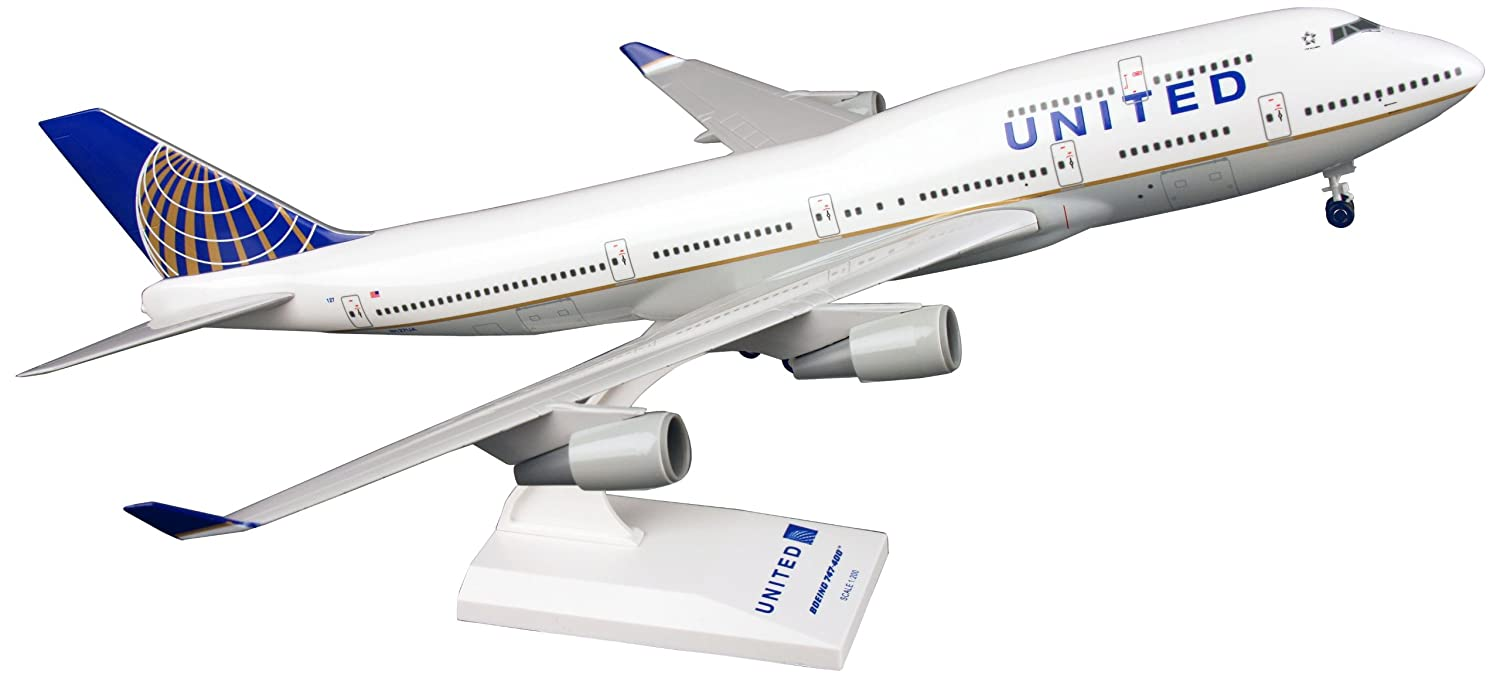 1//200 Scale Daron World wide Trading Inc SKR614 Daron Skymarks United 747-400 Post Co Merge Model Kit with Gear