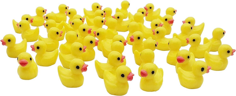 50 Pcs Resin Duck Miniature Slime Charms Mini Duckies for Crafts, Succulent Planter, Moss Landscape DIY Terrarium