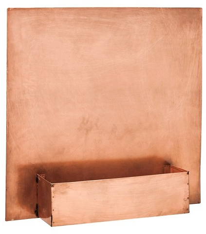 Antique Copper Wall Planter Square Copper - Ever... : Target