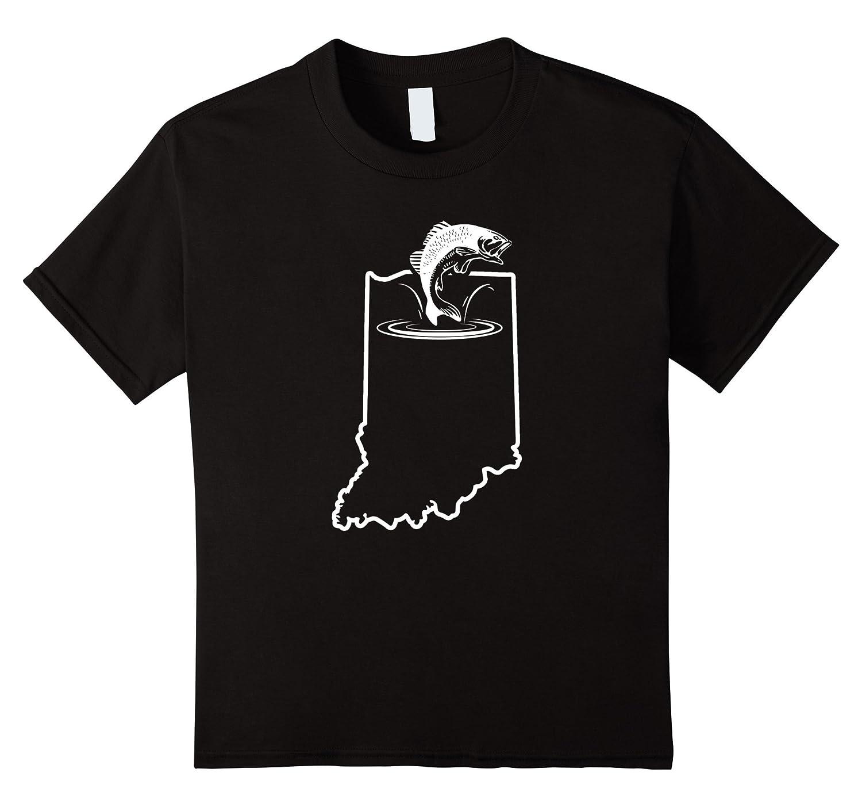 Small Bass Fishing Indiana Tshirt-Awarplus
