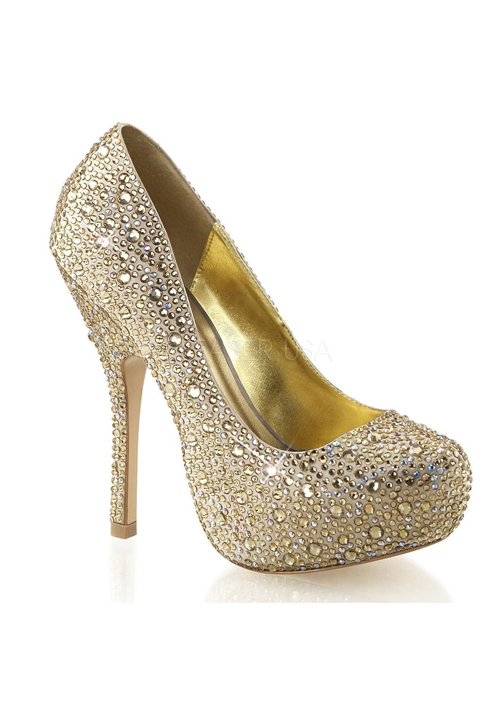 Fabulicious FELICITY-20 - Zapatos de vestir para mujer 41 EU Champagne Satin