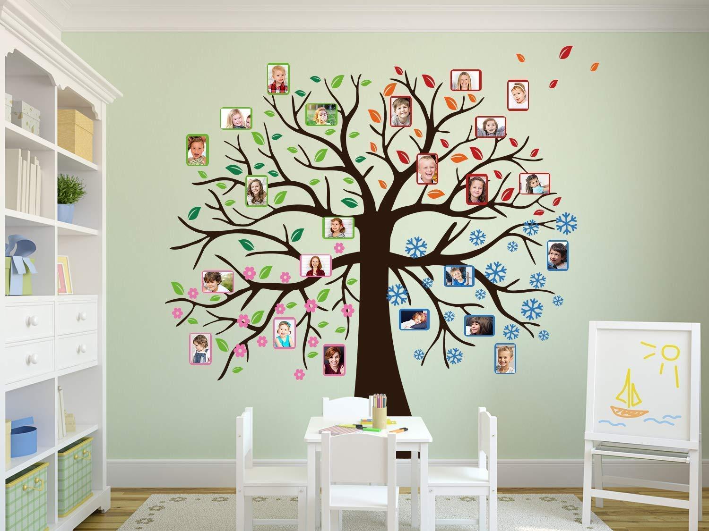 Wandtattoo Baum Vier Jahreszeiten Geburtstagskalender Selbst Gestalten Wandkalender Fur Kindergarten Oder Schule Klassenraum Wandtattoo Familien Baum Amazon De Handmade