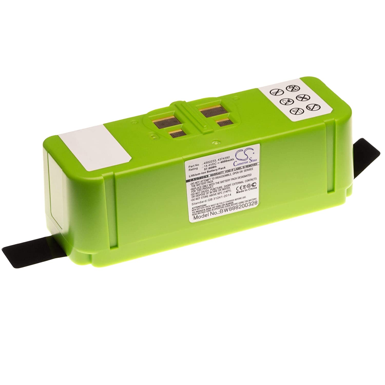 vhbw Li-Ion batería 4000mAh (14.4V) para robot limpiasuelos ...
