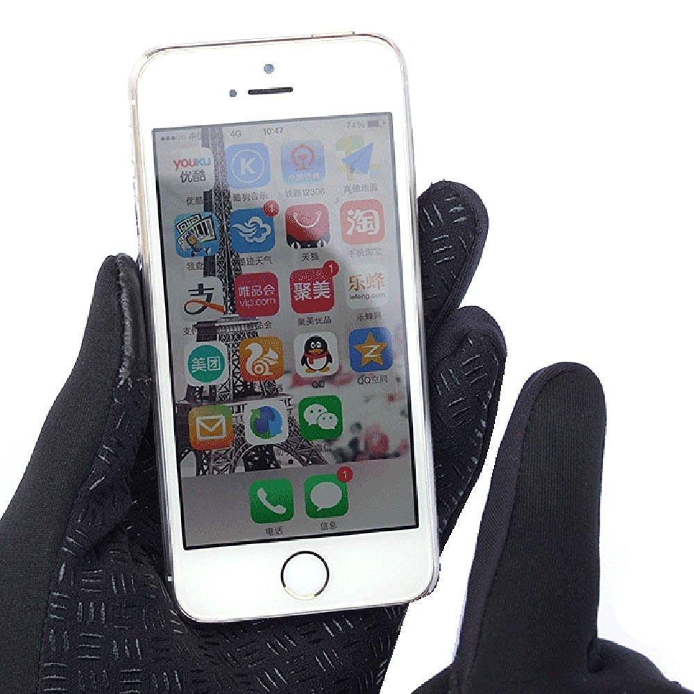 Ducomi® WINDSTOPPER–Guantes táctiles de neopreno con cremallera y tecnología Touch Screen incorporada para smartphone y tabletas