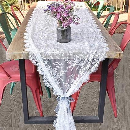 Awtlife Runner Da Tavola In Pizzo Bianco Stile Vintage Decorazione Per Matrimoni 70 X 300 Cm Amazon It Casa E Cucina