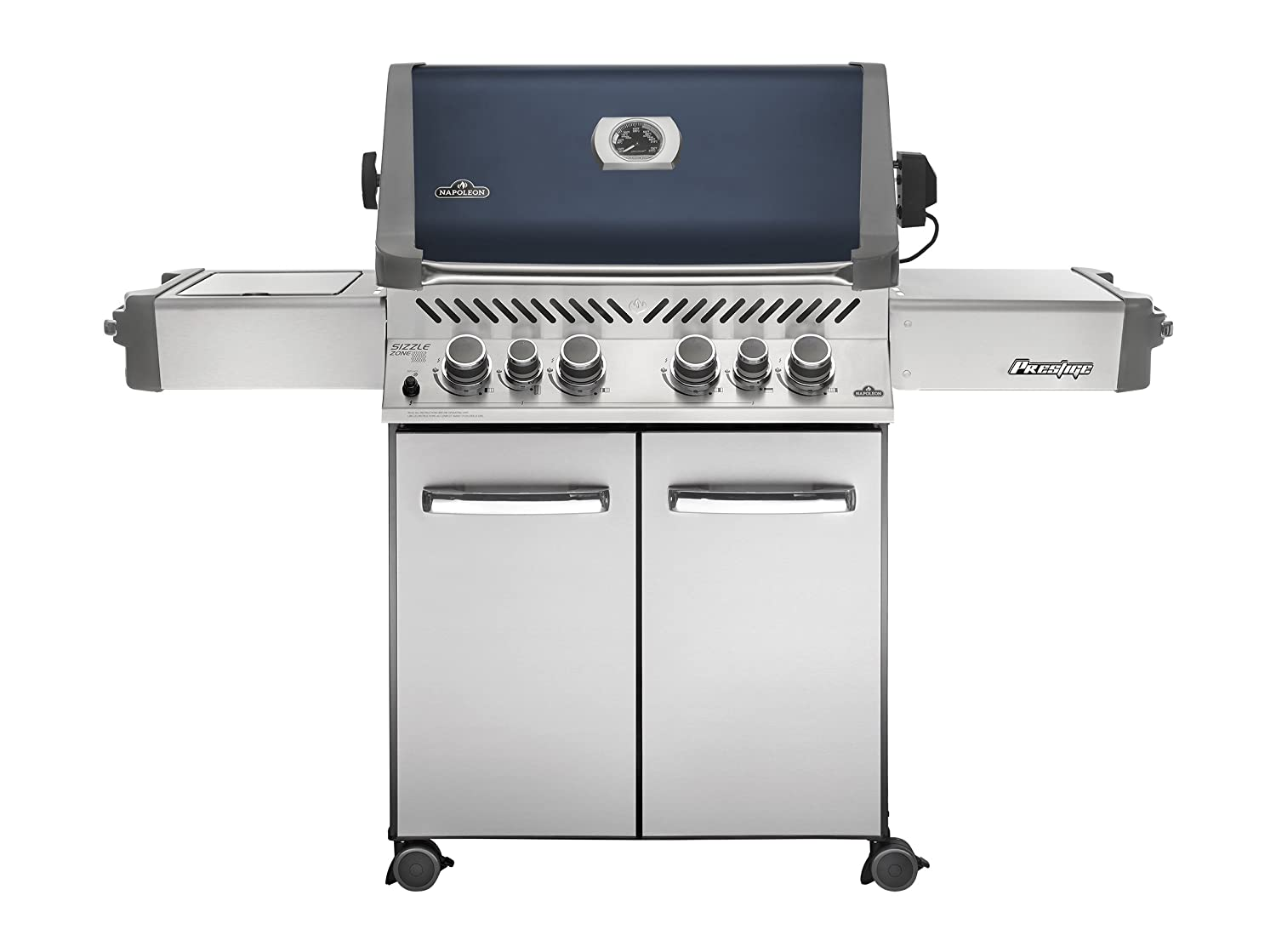 Napoleon P500RSIBPSS-1 Prestige Propane Gas Grill with Infrared Side and Rear Burners in Stainless Steel