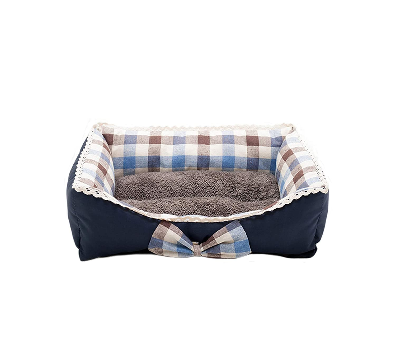 Amazon.com : MOAAA Cute Bow Princess Dog Beds Fleece Warm ...
