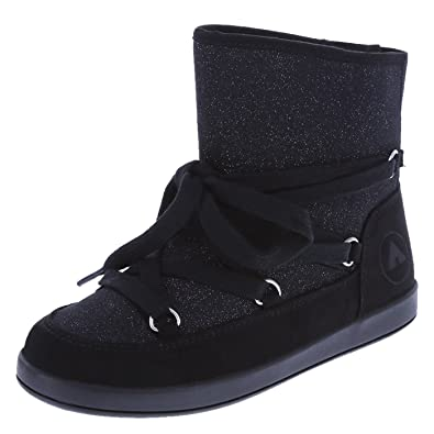 49a1f60e7811 Image Unavailable. Image not available for. Color: Airwalk Girls' Black  Glitter Girls' Glitter Pixie Lace-Up ...