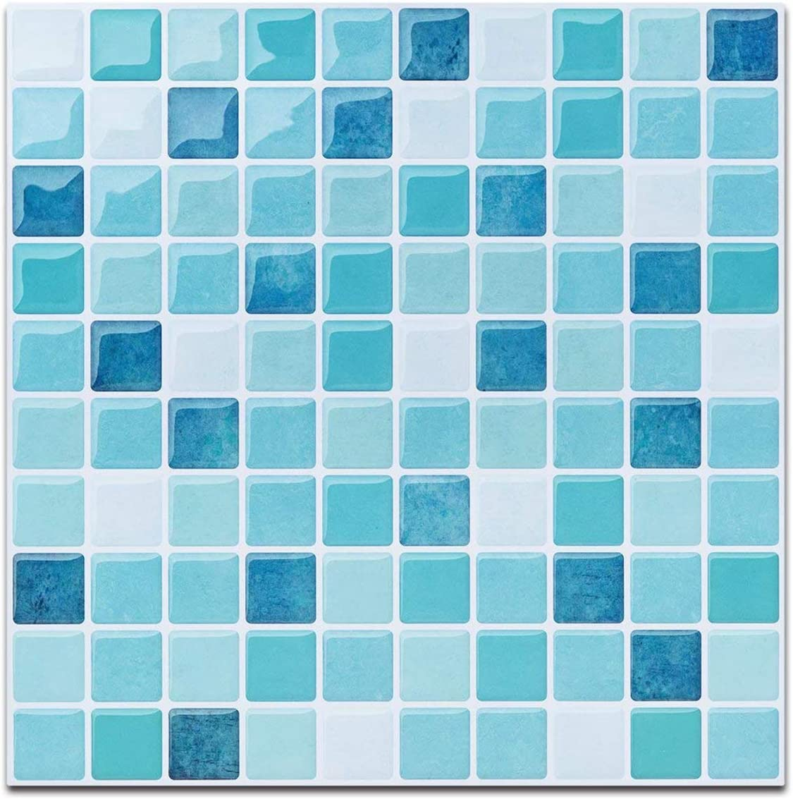 - Blue Peel And Stick Tile For Kitchen Backsplash-Mist Colored