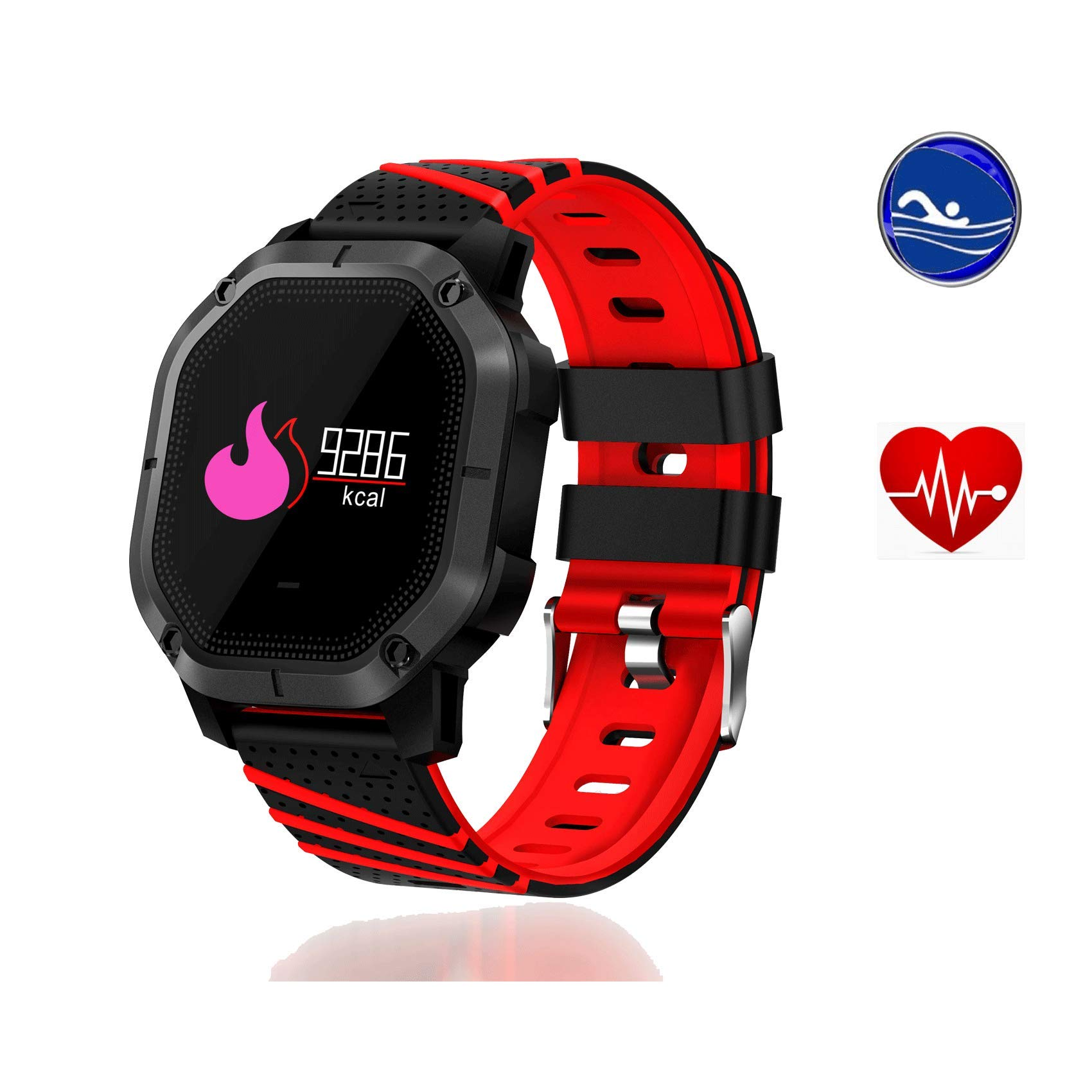 Yunzhengfei Reloj para natación, presión Arterial/monitorización del Ritmo cardíaco/rastreador de sueño