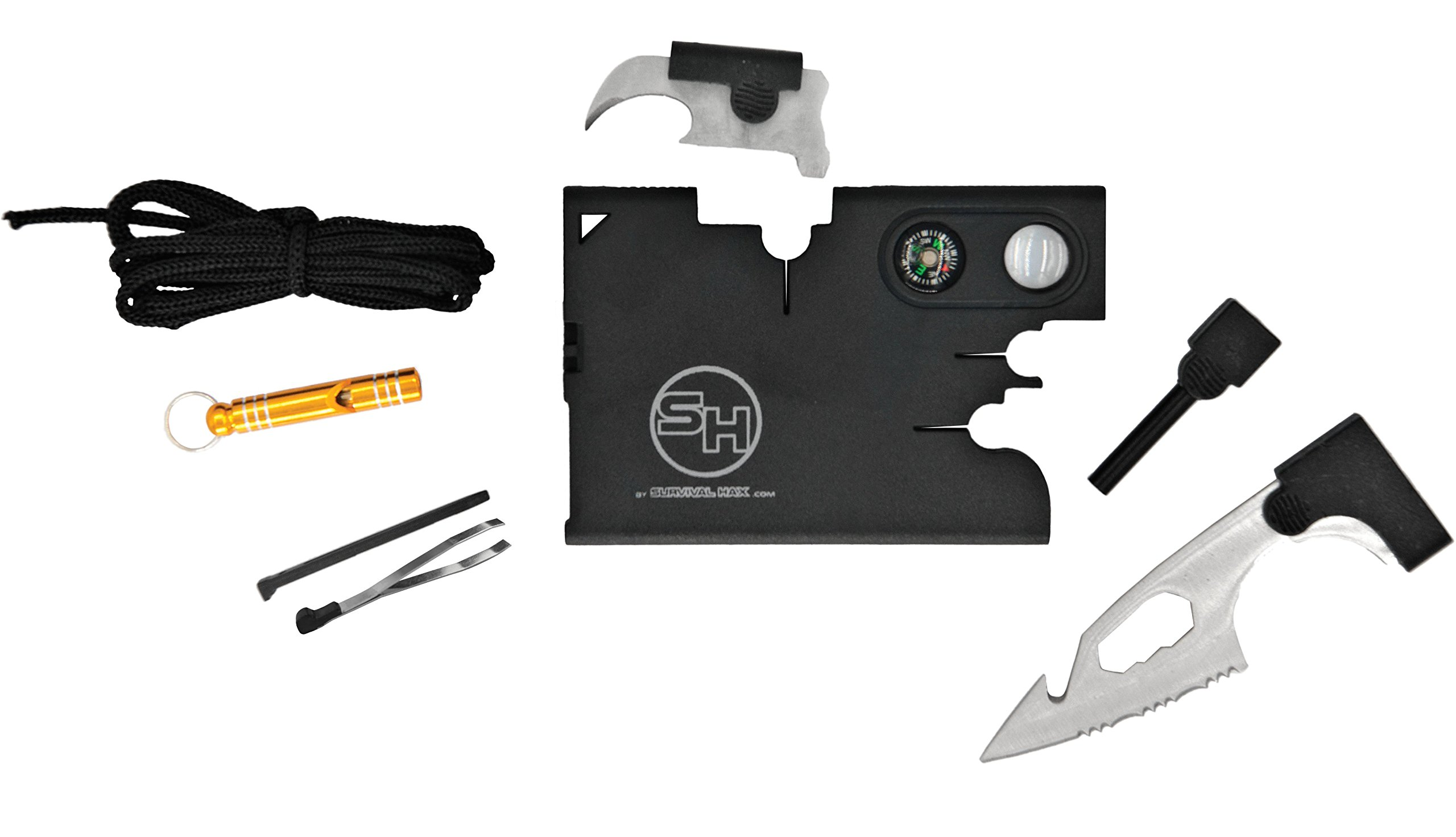 Tactical Credit Card Wallet Tool with Emergency Whistle and Gift Box by Survival Hax