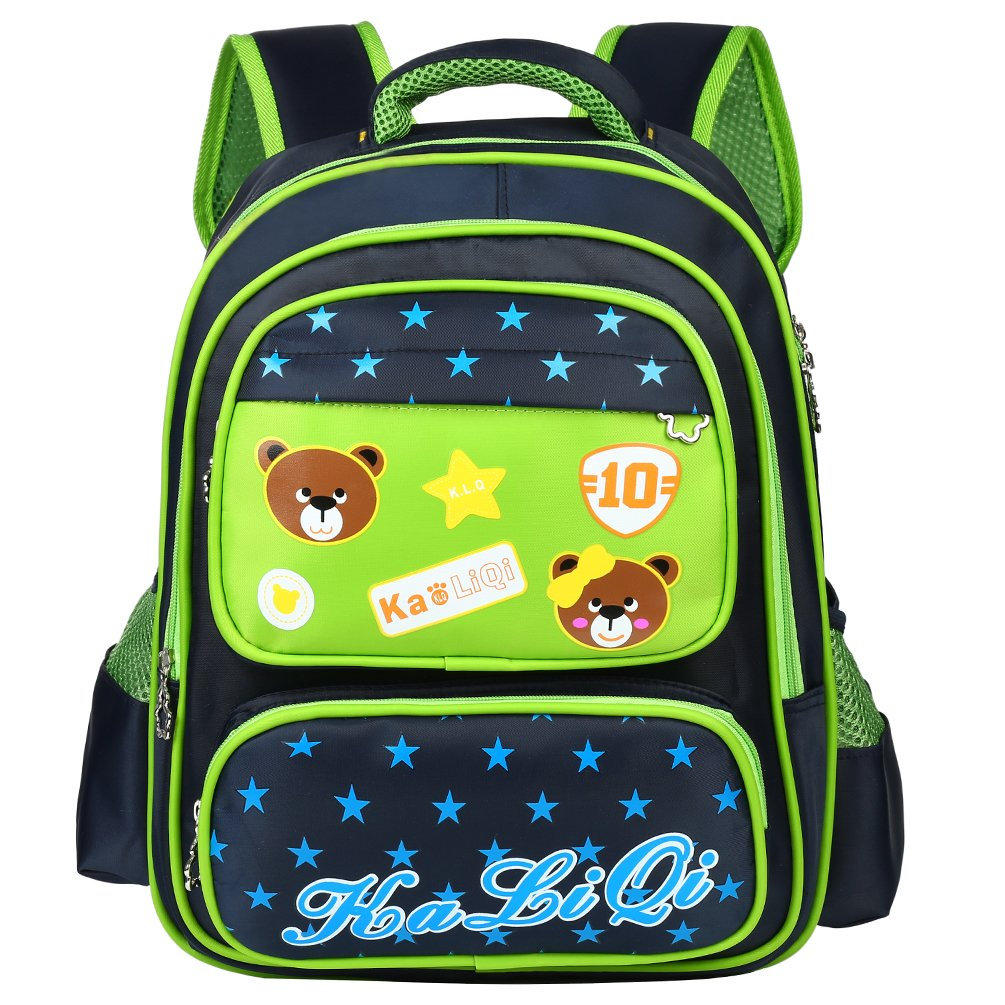 0bde9a15b78a Vbiger School Backpack Cute Cartoon Adorable Student Shoulders Bag Multi-Functional  School Bag Casual Outdoor Daypack for Primary School Students (Dark ...