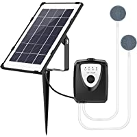 Solar Water Air Pump Fish Tank Oxygenator,Outdoor Pool Pond Air Oxygen Pump Aerator with Aquarium Oxygen Pipe and Air…