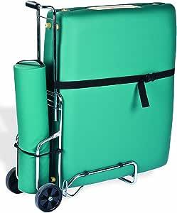 EARTHLITE Traveler Massage Table Cart - Sturdy Massage Table Platform, Large Wheels, Telescoping Handle