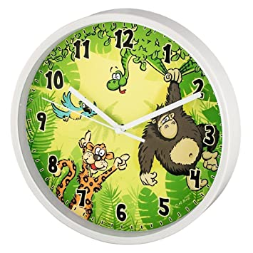 Amazon.de: Hama Kinder Wanduhr ohne Ticken \