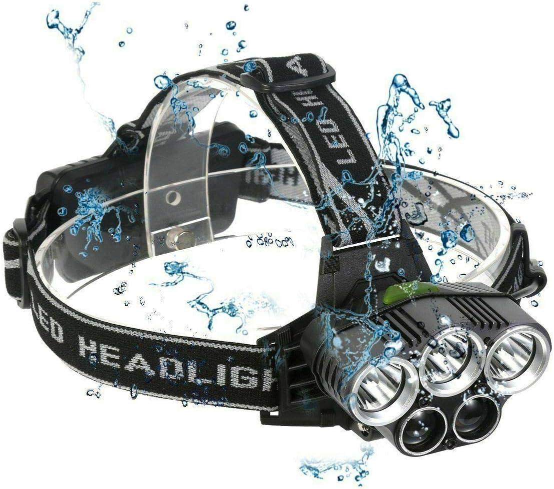 2021 New Flashlight Head Torch T6 LED Headlamp Rechargeable Light Q Q1I2