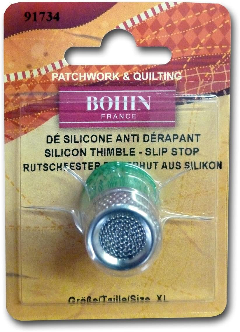 Extra Large Bohin Silicone Thimble W//Steel Top