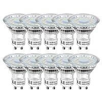 LE Lighting EVER Ampoules LED GU10 MR16, 4W=50W Ampoule Halogène, 350lm, Lumière du Jour 5000K, 120° Larges Faisceaux, Lot de 10