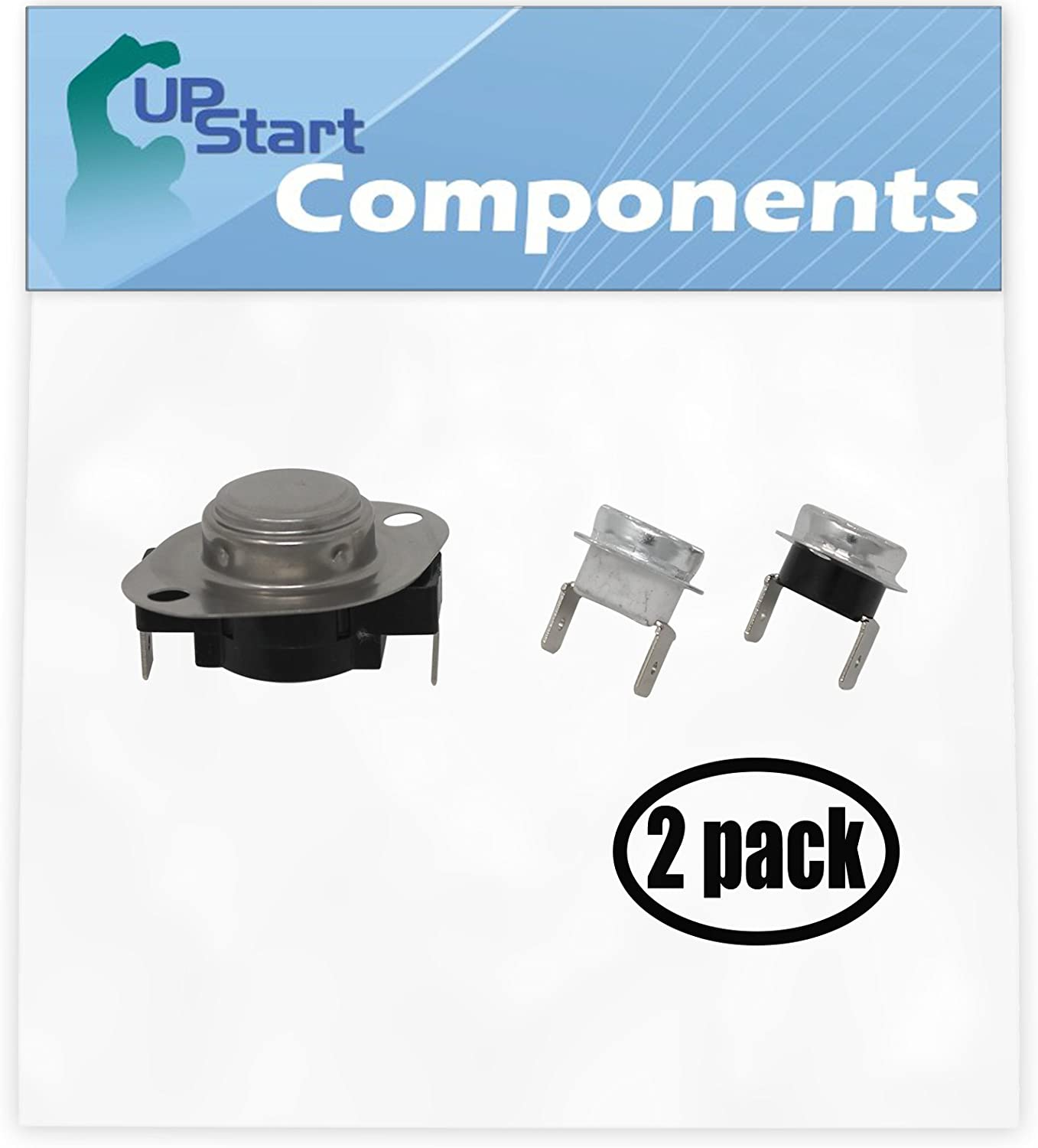 2 Pack Replacement LA-1053 Thermostat Kit for Norge 8748A Gas Dryer
