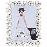 Giftgarden® 13x18 Cornici Portafoto con Farfalla Bianca Regalo per Amica