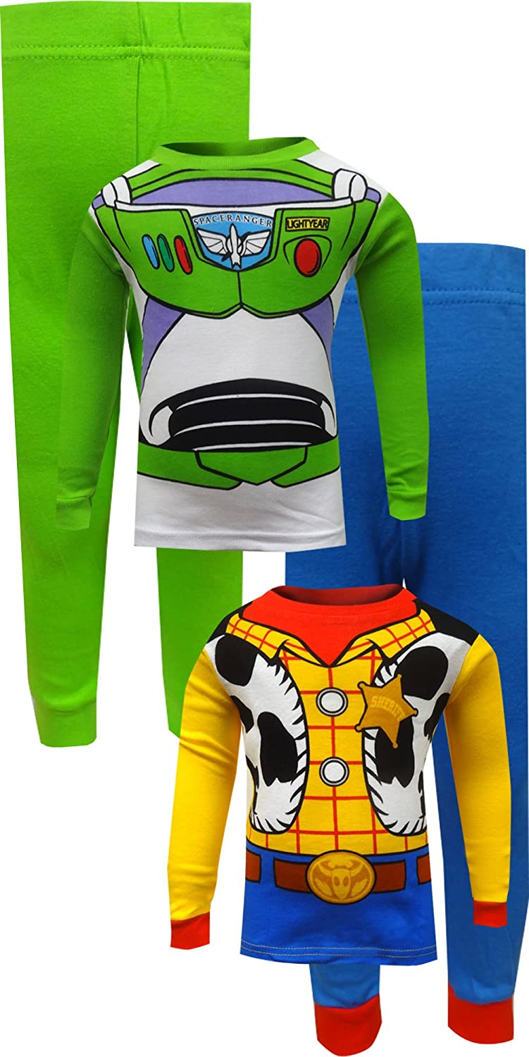 4973bcd2ad Amazon.com  Toy Story Buzz Lightyear and Woody Cotton Toddler Pajamas for Little  Boys (2T)  Clothing