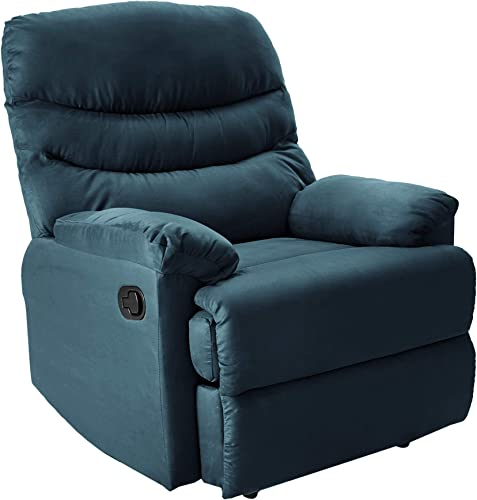 NHI Express Anthony Microfiber recliner, blue color,