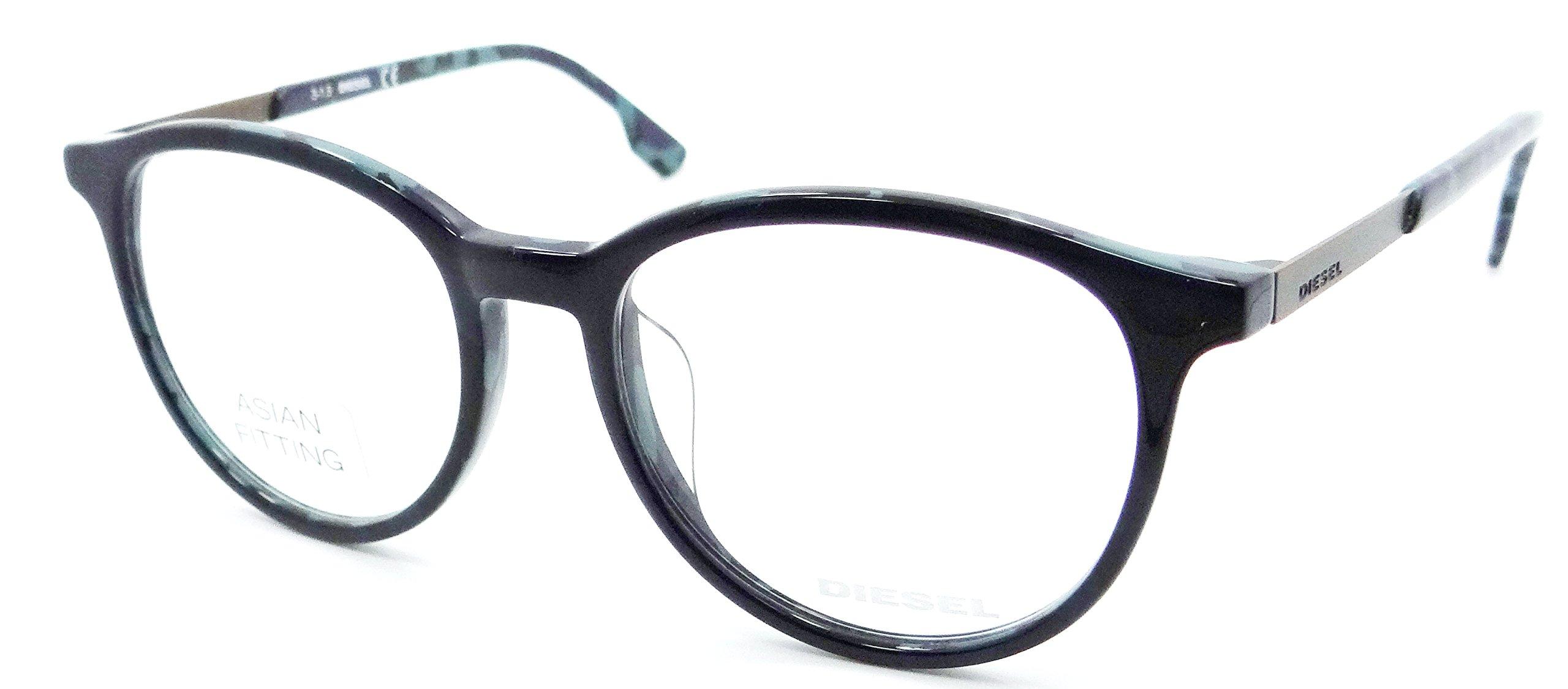 Diesel Rx Eyeglasses Frames DL5117-F 092 52-17-150 Blue Spotted Blue Asian Fit