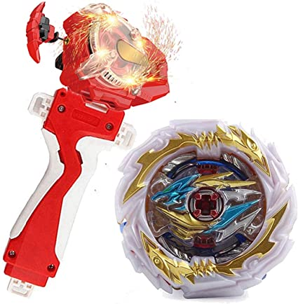 2 Pieces Plastic Spinning Top Launcher Grip Left and Right Kids Toy Red+Blue