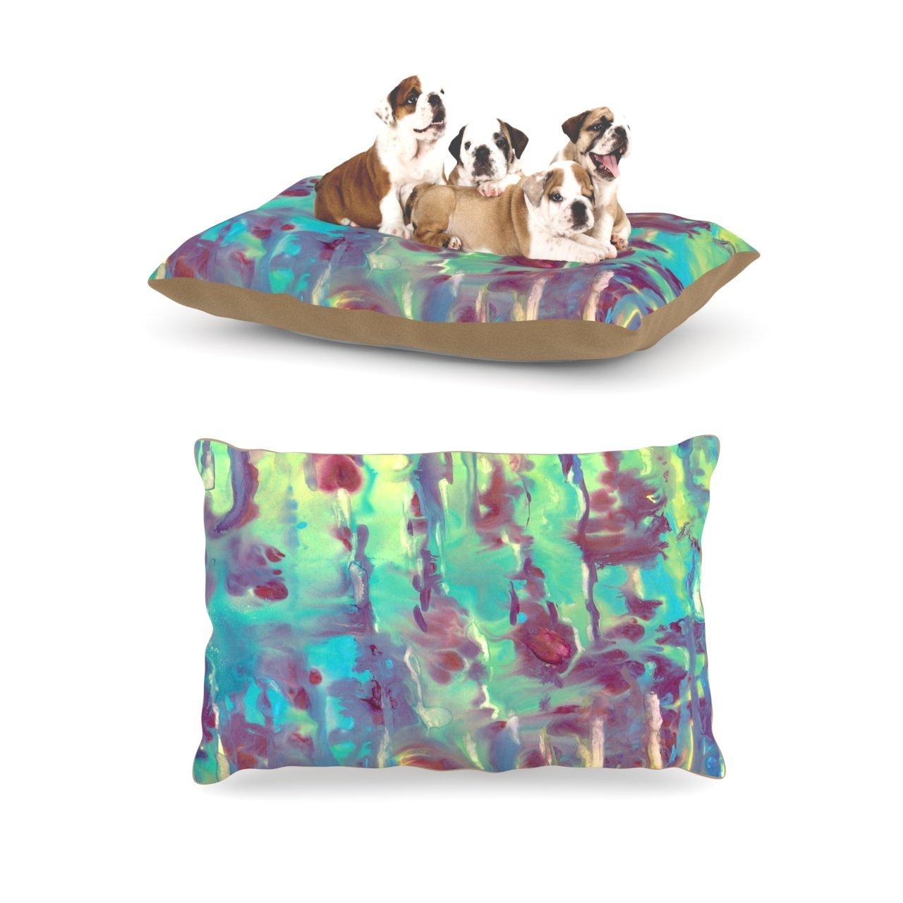 Kess InHouse Rosie Brown Splash  Fleece Dog Bed, 30 by 40-Inch