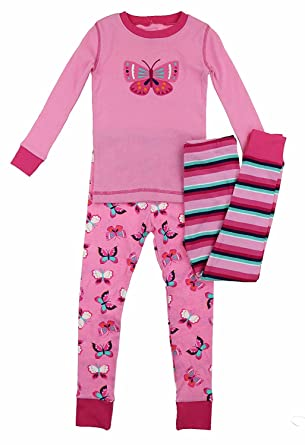 Amazon.com  Kirkland Signature Girls  Mix   Match 3-Piece Organic Cotton  Pajama Set  Clothing 4a8135ce7