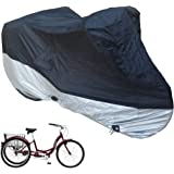 Adult Tricycle Cover fits Schwinn, Westport and Meridian - Protect Your 3-Wheel Bike from Rain, Dust, Debris, and Sun when St
