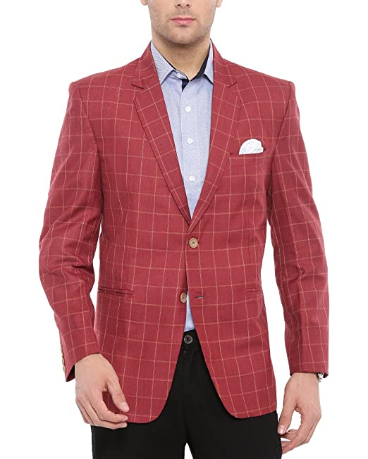 bcd3259900 Shaftesbury London Mens Slim Fit Single-Breasted Blazer Jacket: Amazon.in:  Clothing & Accessories