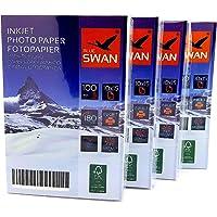 400 Feuilles de papier photo 10 x 15 cm brillant 180 g d'un côté étanche