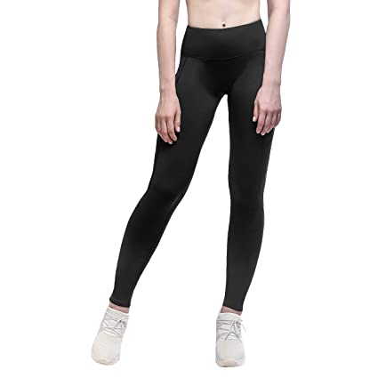 ebd1b641a9314 Yunoga Fleece Yoga Leggings Ankle Length Workout Active Thermal Pants - X  Small