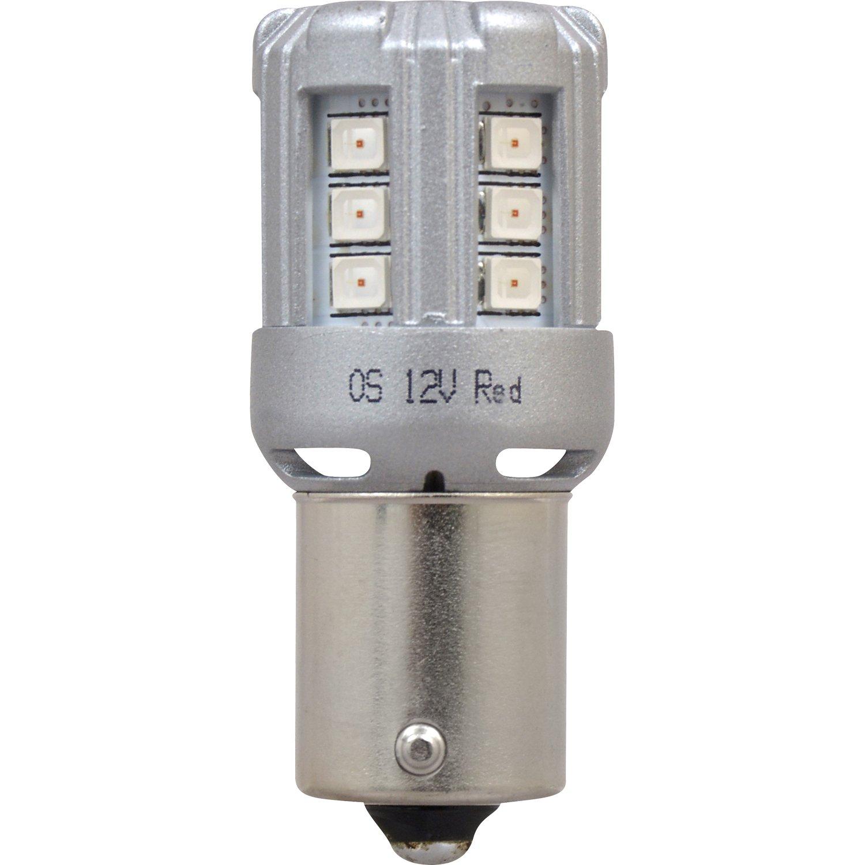 Bright LED Bulb Ideal for Park and Turn Lights Contains 2 Bulbs SYLVANIA 1156 LED Amber Mini Bulb