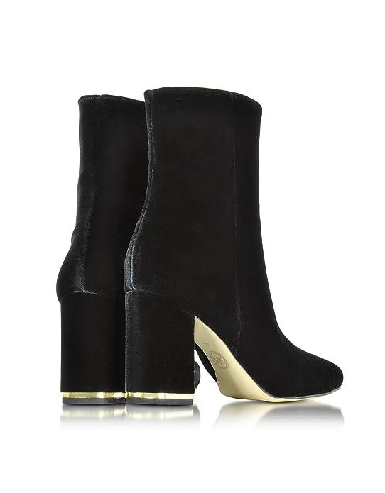 Michael By Michael Kors Mujer 40F6urhe5d001 Negro Terciopelo Botines: Amazon.es: Zapatos y complementos