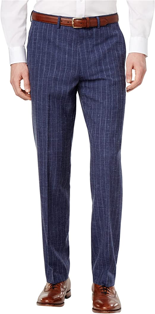 Ryan Seacrest Distinction Mens Chalk Stripe Dress Slacks